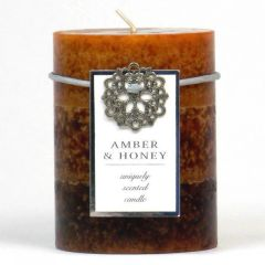 Amber & Honey Pillar Candle - 4-inch