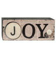 'JOY' WOOD SIGN
