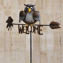 Garden Stake - Welcome W/Owl