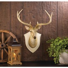 Country Deer Bust Wall Decor