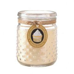 Vanilla Cupcake Hobnail Jar Candle