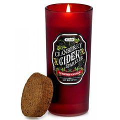 Bottle Candle with Cork Lid - Cranberry Cider Sparkler
