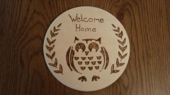 Welcome Home Owl Sign