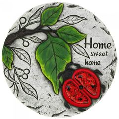 Home Sweet Home Ladybug Cement Stepping Stone