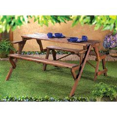 Rustic Convertible Garden Table Furnishing