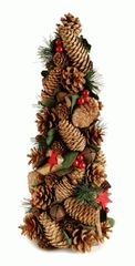 BROWN/RED PINECONE TREE