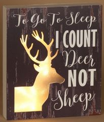 Lighted Count Deer Sign