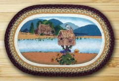 Cabin at the Lake Oval 20x30 Rug