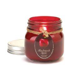Macintosh Apple Mason Jar Candle