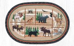 "Lodge Animals Oval Rug 20""x30"""