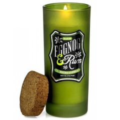 Bottle Candle with Cork Lid - Eggnog & Rum