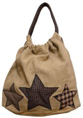 Farmhouse Star Burlap Tote