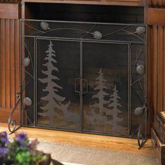 Woodland Scene Iron Fireplace Screen
