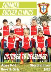 Elwood City FC Summer Soccer Clinics - 16th Oct to Dec 4th Dec 2018