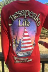 Skipjack Long Sleeve Red (Women's)