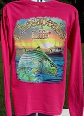Women's Striped Bass Long Sleeve Shirt