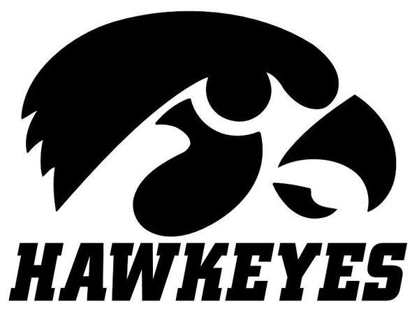 Iowa Hawkeye Vinyl Decal Arrowhead Outdoor Products