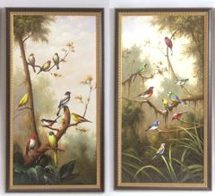 113083 Oil Painting Birds & 213083 Oil Painting Birds