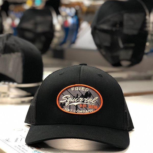 8c3f0efbfed96 BLACK Fried Squirrel Hat Co. Design 2 lineman