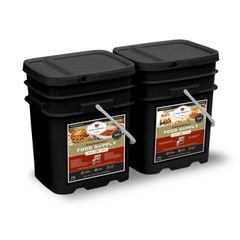 240 Serving Package - 40 lbs - Includes: 1 - 120 Serving Entree Bucket and 1 - 120 Serving Breakfast Bucket