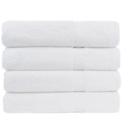 Luxury Hotel & Spa Towel 100% Genuine Turkish Cotton Bath Towels - White - Honeycomb - Set of 4