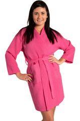 Tight Lenght Waffle Kimono Robe - Women - Fuchsia - Adult - One Size