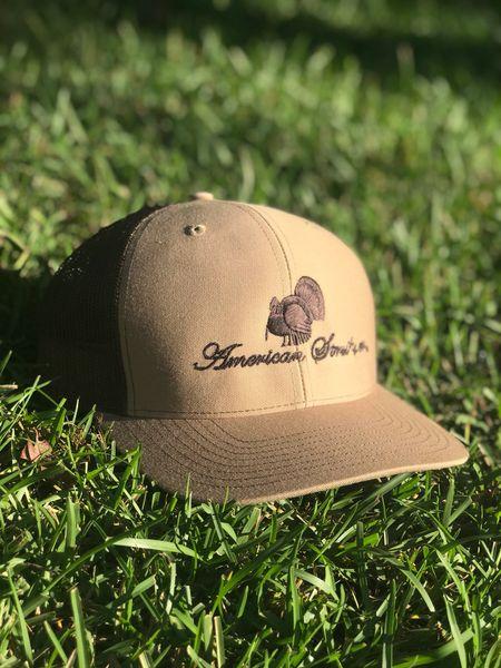 American Strutter®  FlatLine  Khaki and Coffee SnapBack Hat ... 67309c5018d