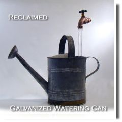 Reclaimed Galavized Watering Can Fountain