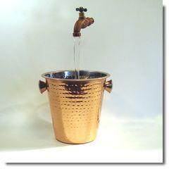 Hammered Copper Wine Bucket Fountain