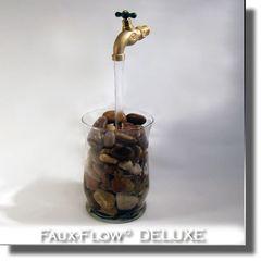 Glass Vase Faucet Faux-Flow DELUXE Fountain