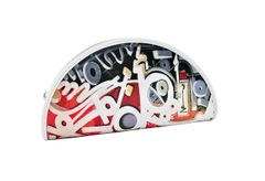 """""""Writing on the Wall"""" Small Clutch - Red"""