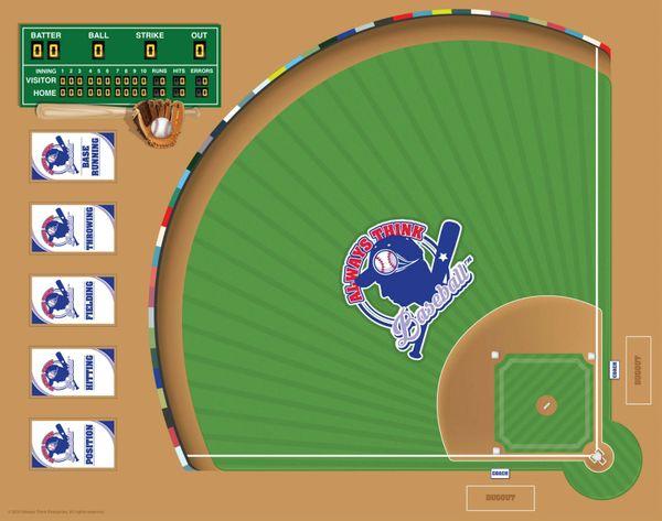 always think baseball flash card board game always think