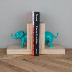 Elephant Bookends- Teal