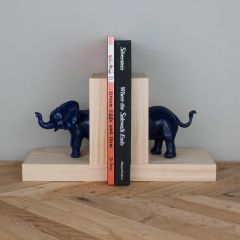 Elephant Bookends- Navy