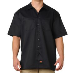 FB County Men's Short Sleeve Work Shirt Navy