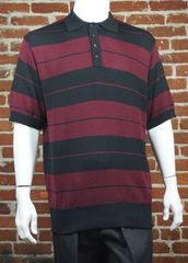 FB County Men's Charlie Brown Shirt Black/Burgundy