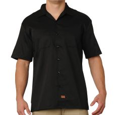FB County Men's Short Sleeve Work Shirt Black