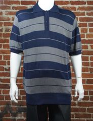 FB County Men's Charlie Brown Shirt Navy/Grey
