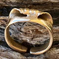 Zuma Beach wave ring in bronze (Small)