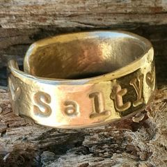 Salty Kisses Adjustable Bronze Ring