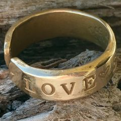 Love Surf Be FREE Adjustable Bronze Ring (Large)