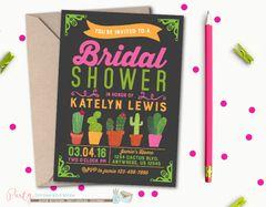 Bridal Shower Invitation, Cactus Bridal Shower Invitation, Cactus Invitation, Fiesta Bridal Shower Invitation, Cactus