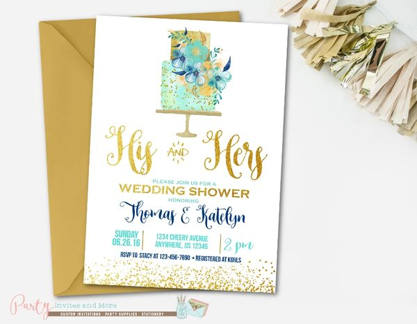 Wedding Shower Invitations For Couples: Couple's Wedding Shower Invitation, Couples Wedding Shower