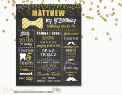 First Birthday Chalkboard Poster, First Birthday Milestone Chalkboard, Mr. Onederful Chalkboard, Little Man Chalkboard, Mr Onederful Party, Bowtie