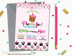 Birthday invitations party invites and more kitty birthday invitation cat birthday invitation kitty cat birthday invitation cat birthday party filmwisefo