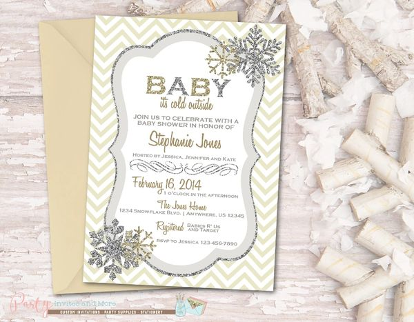 snowflake baby shower invitation baby it s cold outside party
