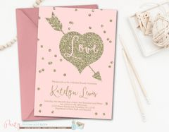 Bridal Shower Invitation, Pink and Gold Bridal Shower Invitation, Blush Pink Bridal Shower Invitation, Pink and Gold Wedding Shower