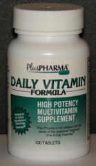 PlusPharma Daily Vitamin Supplement (Generic One a Day Essential) 100ct