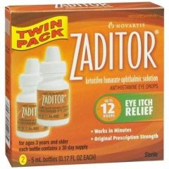 Zaditor Antihistamine Eye Drops Eye Itch Relief Twin Pack 2x5ml Bottles