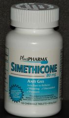Simethicone Gas Relief Chewable Tabs 80mg by PlusPharma (Compare to Gas-x Chewable) 100ct